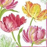 4serviettes en papier pour le découpage-3plis, 33x 33cm-Tulip Dance