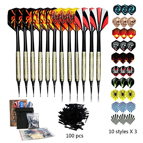Sinwind Set de Fléchette à Pointe Plastique, Kit de Softdarts à...