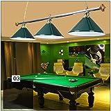 Escalier lustres, Noir Huit Billard Lustres de piscine suspendus avec Ombre à 3 lumières,Industriel Créatif Salle de billard