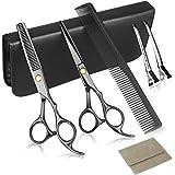 Hårsaxar, professionella hårklippningssaxar och frisör uttinnande saxar 7 tum frisörsaxar set för kvinnor, män, barn eller hu
