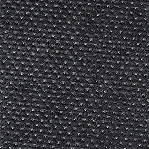 Black With Shiny Glitters Embossed Soft Faux Leather Leatherette Upholstery
