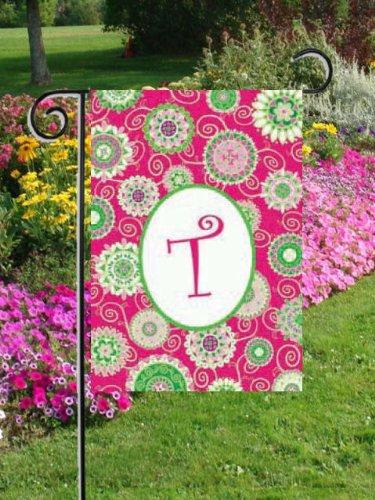 Beautiful Fashion Circle doppio Monogram T Garden Flag