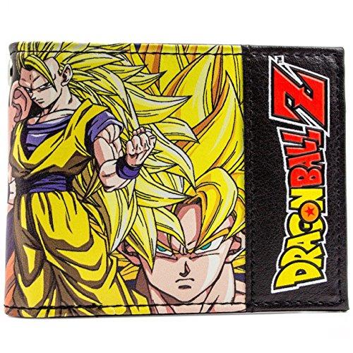 Cartera de Toei Dragonball Z Goku y Vegeta Amarillo