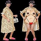 Männer Kostüm Hausfrau Herrenkostüm Oma alte Frau Fat Suit