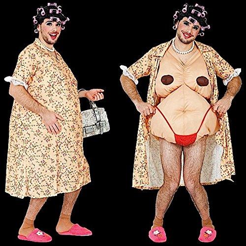 Lustige Kostüm Hausfrau (Männer Kostüm Hausfrau Herrenkostüm Oma alte Frau Fat)