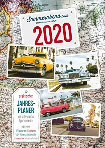 Oldtimer Familienplaner Fotokalender 2020 DIN A3 hoch - Jahresplaner Kalender Wandkalender mit VW Käfer, Bulli, T1, T2, Ford, Cadillac, Monatskalender 14 Seiten