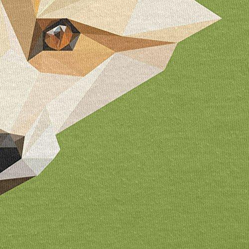 TEXLAB - Foxy Polygons - Damen T-Shirt Kiwi