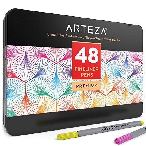 Caja de rotuladores de punta fina Arteza - Estuche con 48 colores
