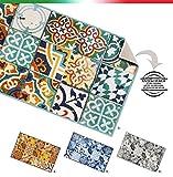 Küchenteppich, Motiv: Fliesen, rutschfeste Rückseite, 7Größen erhältlich, Mehrzweck-Teppich für Flur, Bad oder Schlafzimmer, Modell: Tapiro31 57x240 cm Grigio (G)
