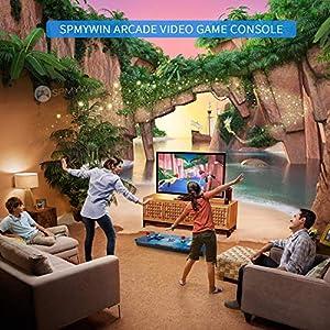 Consola de videojuegos, Arcade Machine 2020 juegos clásicos, 2 jugadores Pandora's Box 6S 1280x720 Full HD, CPU Avanzada con 2 joystick Partes de la fuente de alimentación HDMI y VGA y salida USB