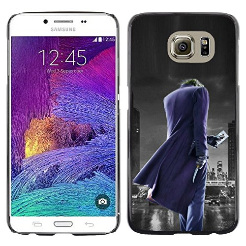 # Hart Schutzhülle PC Tasche Hülle HandyHülle Slim Hard Protective Case for Samsung Galaxy S6 # Joker-Stadt Joker City# Gift Phone Case Housing #