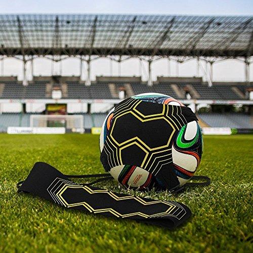 Pusheng Solo Fußball Trainer Soccer Trainer Fußballtrainer Starkick Kick Fußball Training Hilfe (Gelb1)
