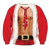 Bfustyle 3D Hässliche Weihnachtspullover Sweatshirt Coole Grafik Gedruckt Pullover Jugend Graffiti Kleidung Top XXL