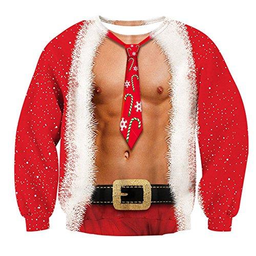 Bfustyle Lustiges hässliches Weihnachten Persönlichkeits Entwurf Gedrucktes Pullover-Sweatshirt für jugendlich Mädchen