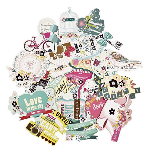 FaCraft Scrapbooking Supplies Ephemera Scrapbook Aufkleber Die-Cut Pack, Happy Birthday, 25 Stück Verschiedene Farben / Designs