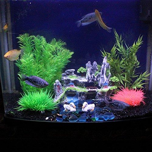 JXC-Simulación de Fish Tank El acuario El acuario de color verde hierba, blanco