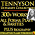TENNYSON COMPLETE WORKS ULTIMATE COLLECTION - Alfred Lord Tennyson's complete poems, poetry, epics, plays and writings PLUS BIOGRAPHY and ANNOTATIONS [Annotated]