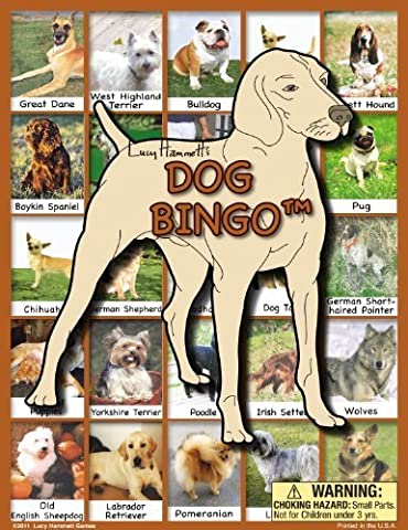 Dog Bingo Board Game by Lucy Hammett Games TOY (English Manual)