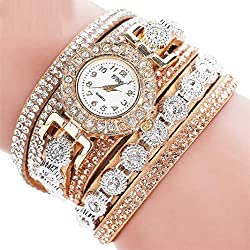 Watch, Tonwalk Women Analog Quartz Rhinestone Watch Bracelet Gift