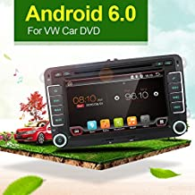 "Con cámara + Canbus + GPS antenna tarjeta 7 ""2 Din Android 6.0 Qual-Core pantalla táctil coche reproductor de DVD de navegación para Volkswagen Volkswage, apoyo espejo link/OBD2/subwoofer/RDS/Bluetooth Mapa tarjeta para Volkswagen VW COCHE"