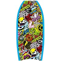 Osprey Body Board with Leash Slick Crescent Tail XPE Boogie Board, Sticker Design, 33 Inch