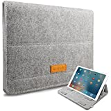 """Inateck iPad Pro 12.9"""" Case Cover Sleeve with Stand Function, 13.3 Inch MacBook Air/ Pro Retina Sleeve Ultrabook Netbook Laptop Bag - Grey"""