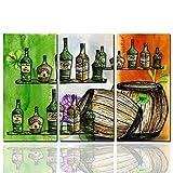 LWL Bierflaschen-Fässer Leinwand Bedrucken Wandkunst, Leinwand gedruckt, HD Bild-Wand-Künstler Künstler Wohnzimmer-Schlafzimmer (ohne Fotorahmen)