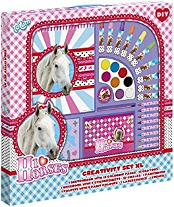Totum 73036 - Kit Creativo Gigante I Love Horses-Stationery