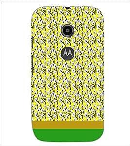 PrintDhaba Floral Pattern D-1885 Back Case Cover for MOTOROLA MOTO E2 (Multi-Coloured)
