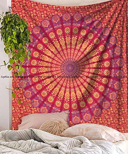 ippie-Mandala Bohemian Wandteppiche, Indian Decor, Wohnheim Psychedelic Wandteppich für Ethnic Decorative Art (Multi) ()
