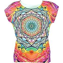Camiseta con Mandalas, estampado colorido y el tacto más suave. La camiseta más barata y ligera para hacer Yoga