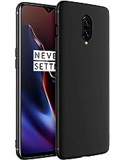 Tarkan Royal Ultra Slim Flexible Soft Back Case Cover for OnePlus 7 (Black) 360 Degree Coverage