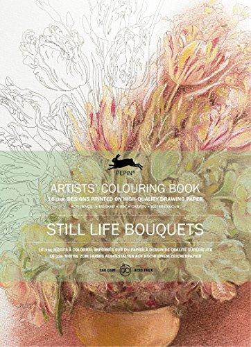 Buch der Künstler Ausmalen Pepin Still Life Bouquet 16Motive Mandala 70678048 -