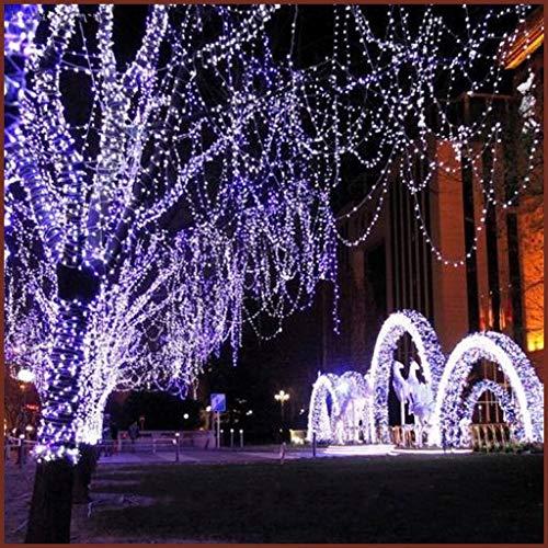 Halloween Halloween LED Lanterna String Lights Lampeggiante Festa Stellata Natale Impermeabile Decorazione della Stanza Halloween Luci di Zucca (Color : White, Size : 20M)