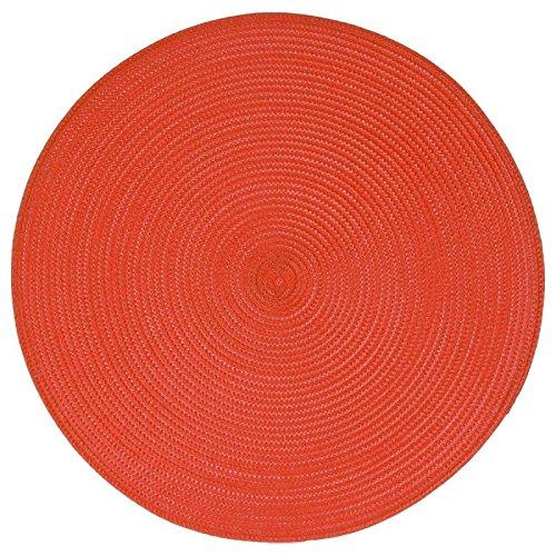 Paris Prix - Set De Table Rond 38cm Rouge