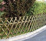 ITALFROM Steccato Recinzione con Traliccio Grigliato Estensibile in Legno Impregnato 250 x 60 cm