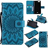 GoGu Case For Wiko Slide 2 Sun Flower Printing Design PU