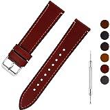 Fullmosa 6 Couleurs Bracelet de Montre en Cuir à l'huile, 14mm 16mm 18mm 20mm 22mm 24mm Bracelet Montre Retro avec Goupille à
