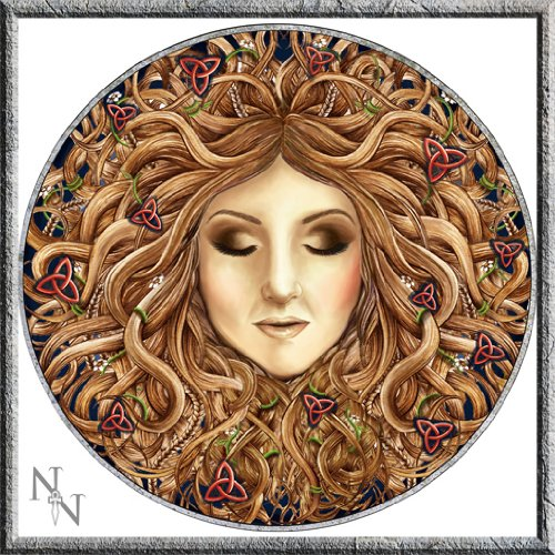 "Beautiful ""Luna Lakota"" Moon Mother targa da parete Art Hanging MDF New & boxed 34 cm"