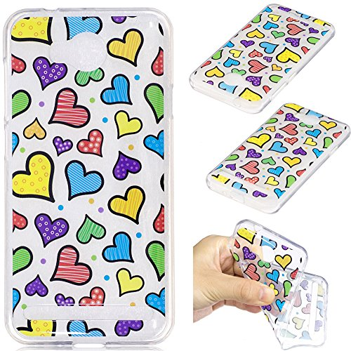 Ooboom® Huawei Y3 II Hülle Transparent TPU Silikon Ultra Dünn Durchsichtig Schutzhülle Handy Tasche Case Backcover für Huawei Y3 II - Liebe