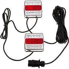 1 Paar 12 V 10 LED Anhänger Lichter Stop Indikator Schwanz Nummernschild Magnet Rücklicht