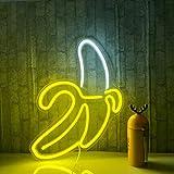 Banane Neon Signs LED Neonlichter Kunst Wand Dekorative Lichter Neonlichter für Zimmer Wand Kinder Schlafzimmer Geburtstag Pa