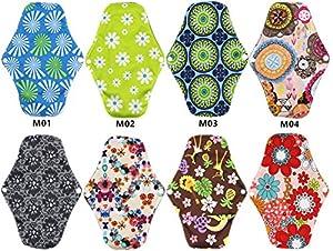 YADAV BRIJESH Bamboo Reusable Sanitary Pads / Panty Liners/ Menstrual Pads / Sanitary Napkins (8 Pack)