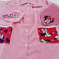 Bata escolar personalizada Minnie Rojo