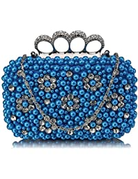 LADIES VELVET JEWEL HARDCASE GOLD CHAIN DOLLY PARTY PROM FASHION CLUTCH BAGS