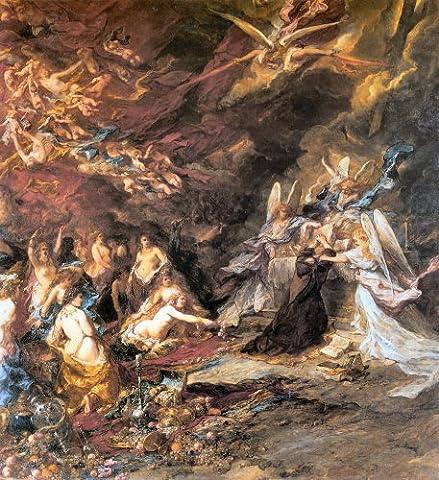 The Temptation of St Anthony 1869 - Louis Gabriel Eugene Isabey - Aluminium Wall Art 15 x 20cms