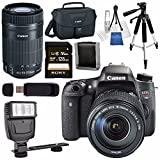 #6: Canon EOS Rebel T6s DSLR Camera with 18-135mm Lens + Canon EF-S 55-250mm Lens + Canon 100ES EOS Shoulder Bag Bundle