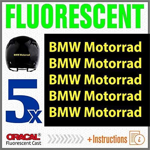 5pcs FLUORESCENTI ADESIVI BMW Motorrad F650GS F 650 GS F650 F700GS 700 F700 F800GS 800 F800 R1150GS R1150 1150 R1200GS R1200 1200 R1200R R1200 R S1000XR S 1000 XR S1000 R1200RT R1200 RT (Giallo)