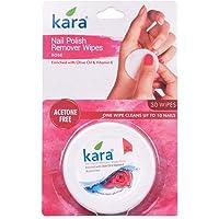 Kara Rose Nail Polish Remover Wipes, 30 Count,(Pack of 2)
