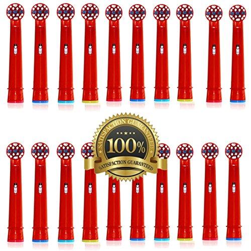 Dr. Kao® 20 pack Bürstenköpfe Kinder Zahnbürste Kids Elektrische Zahnbürste Köpfen für Kinder Standard für Oral B elektrische Zahnbürste Köpfe Kinder 20 pack eb-10 a